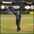 Ron Sims first pitch