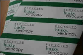 We use lots of recycled paper